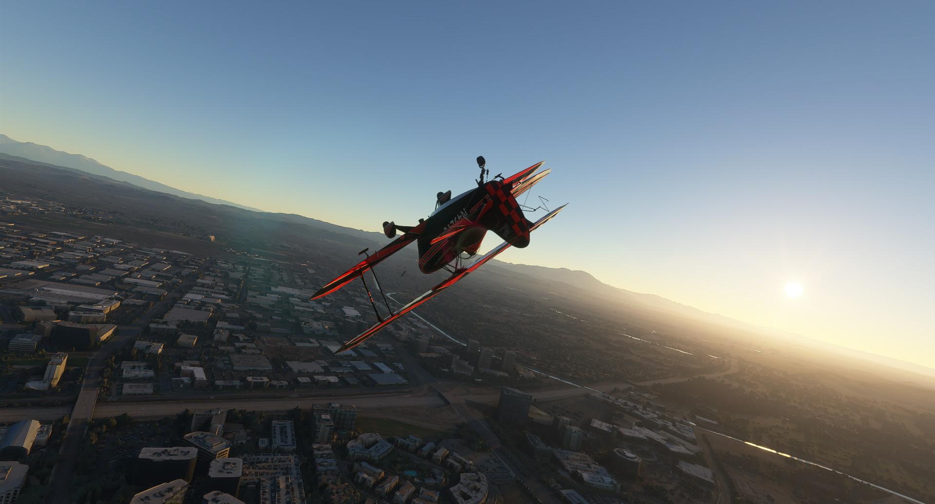 Microsoft Flight Simulator Pitts Stunt