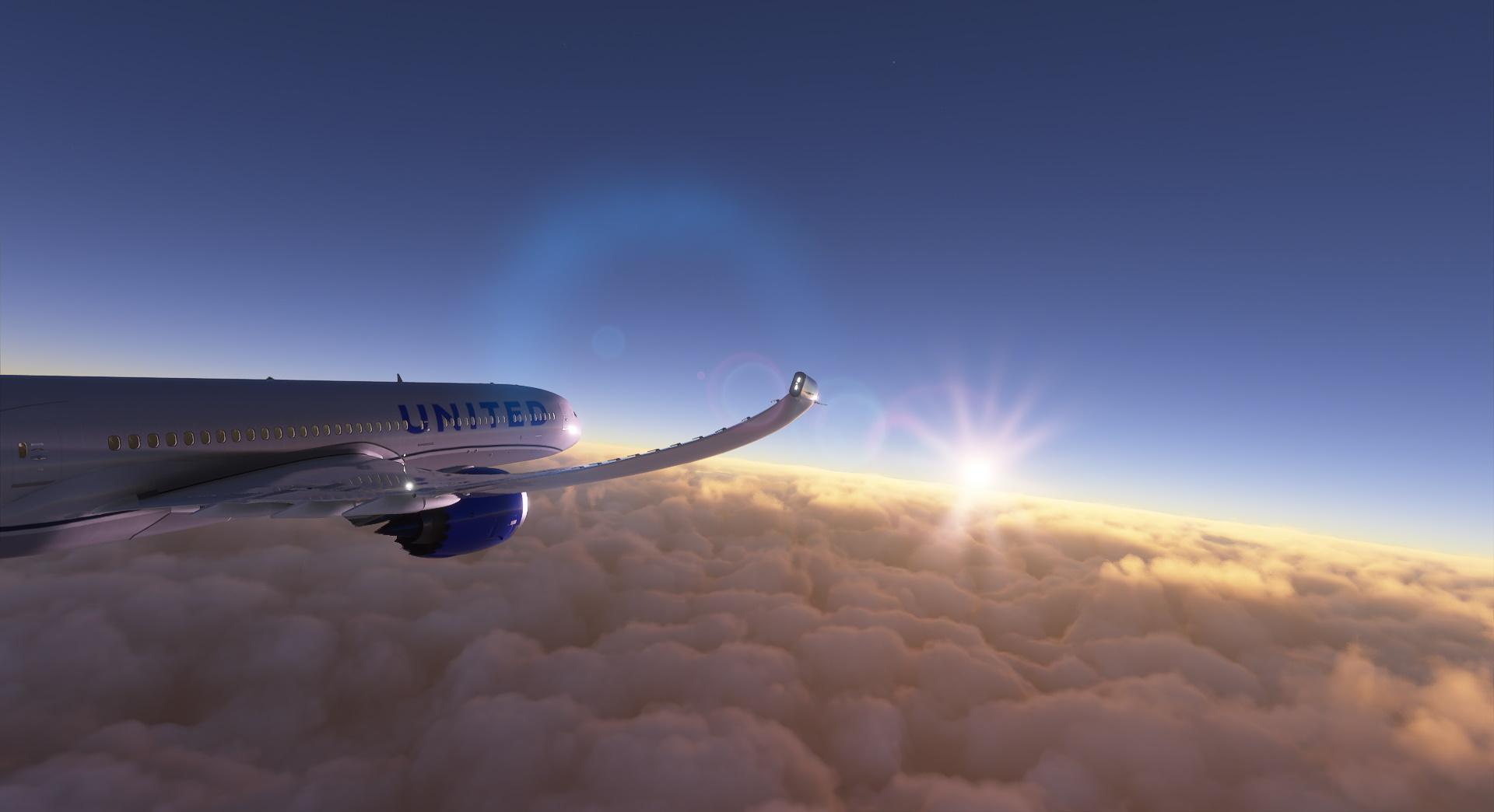 Microsoft Flight Simulator United 787 Over The Pacific