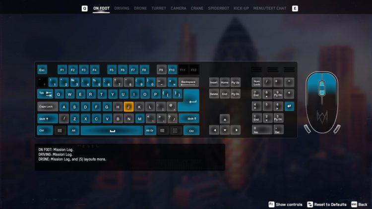 Watch Dogs Legion Virtual Keyboard