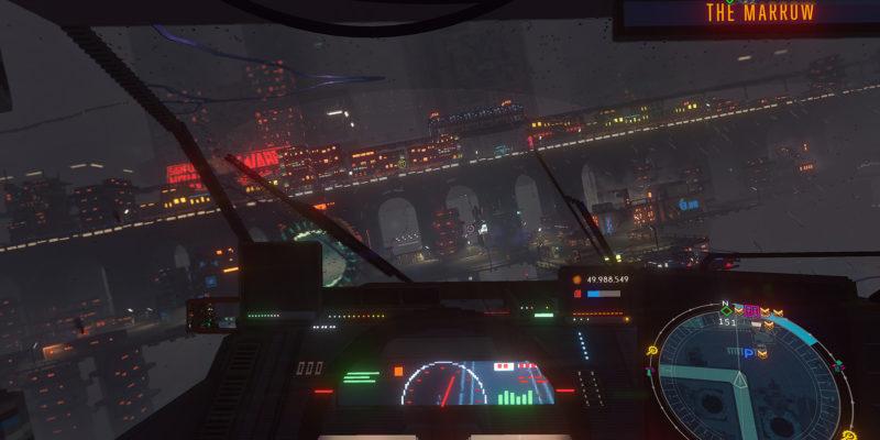 Cloudpunk First Person Cockpit Mode Update