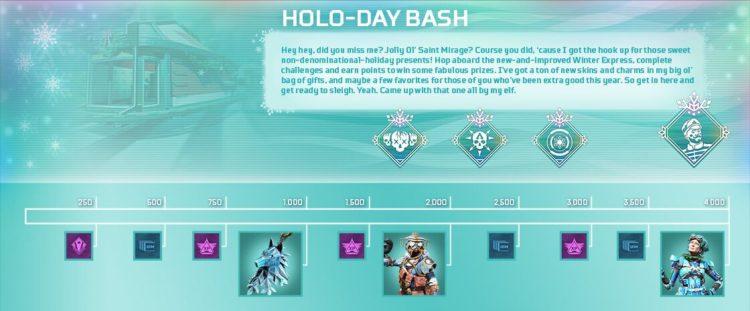 Apex Legends Holo Day Bash Rewards Track