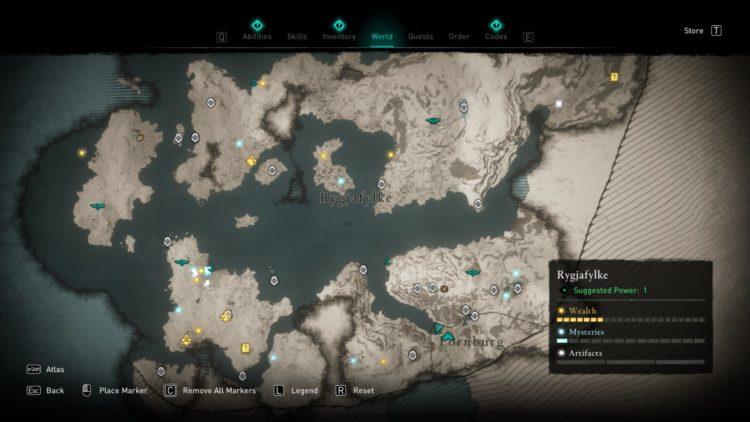 Assassin's Creed Valhalla Полная карта мира Руководство по сундукам с сокровищами 2a Норвегия
