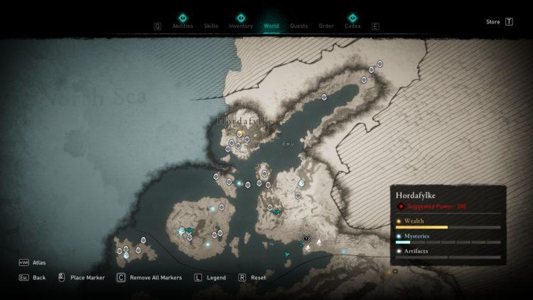 Assassin's Creed Valhalla Полная карта мира Руководство по сундукам с сокровищами 2b Норвегия