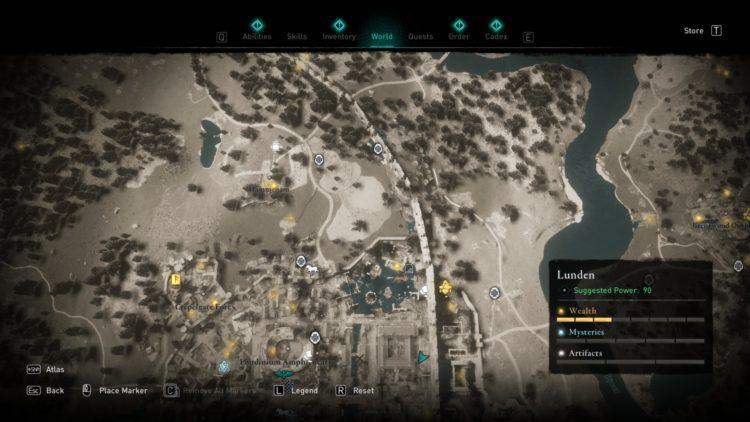 Assassin's Creed Valhalla Полная карта мира Руководство по сундукам с сокровищами 4a Lunden