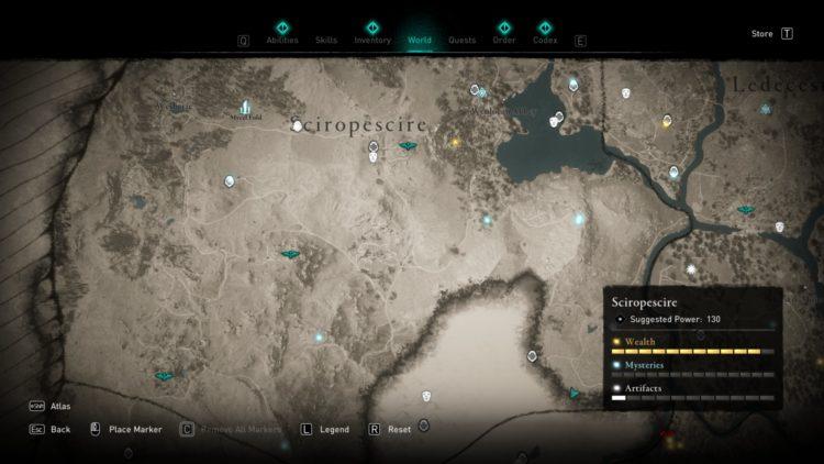 Assassin's Creed Valhalla Полная карта мира Руководство по сундукам с сокровищами 6b Sciropescire