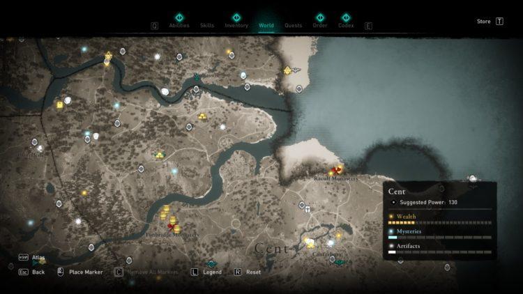 Assassin's Creed Valhalla Полная карта мира Руководство по сундукам с сокровищами 7a Cent