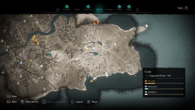 Assassin's Creed Valhalla Полная карта мира Руководство по сундукам с сокровищами 7b Cent