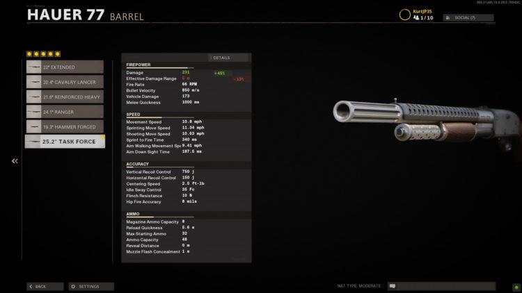 Black Ops Cold War Hauer 77 Stats