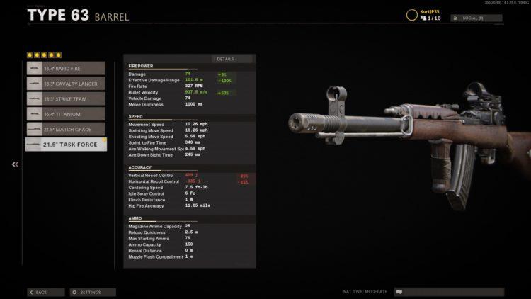 Black Ops Cold War Type 63 Damage Cap