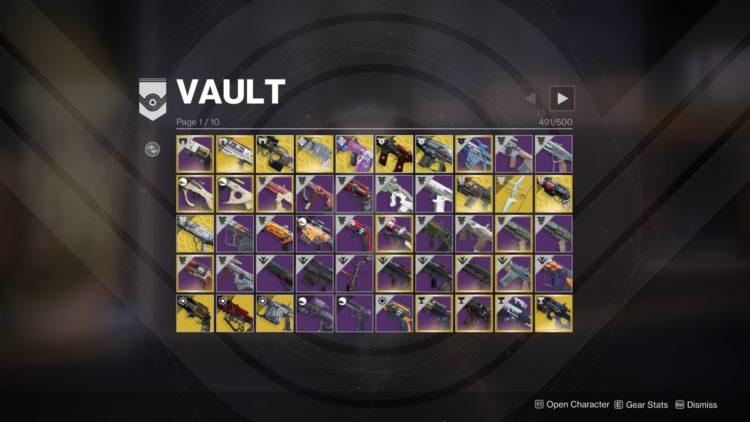 vault items