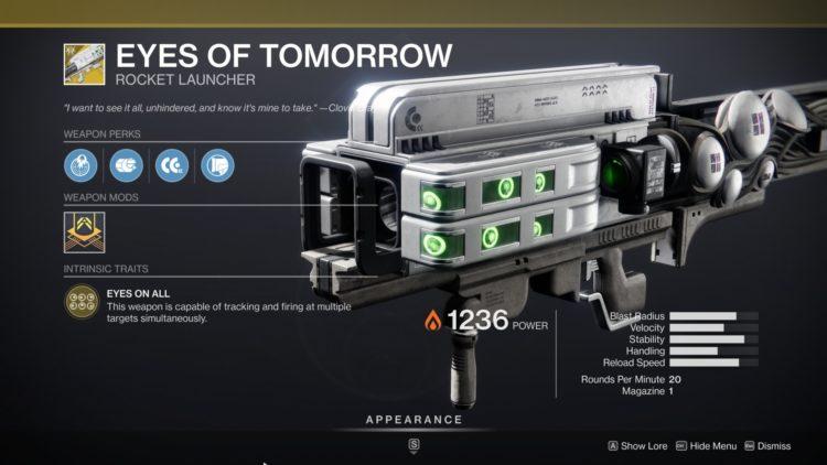 Destiny 2 Beyond Light Eyes Of Tomorrow Exotic Gjallarhorn 2
