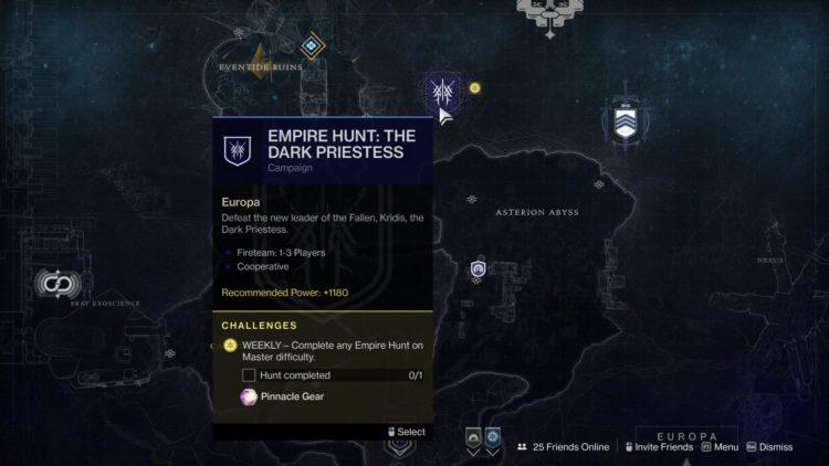 Destiny 2 Beyond Light Master Empire Hunt Guide 1