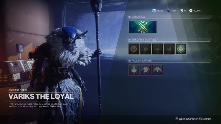 Destiny 2 Beyond Light Variks Sabotage Quests 1