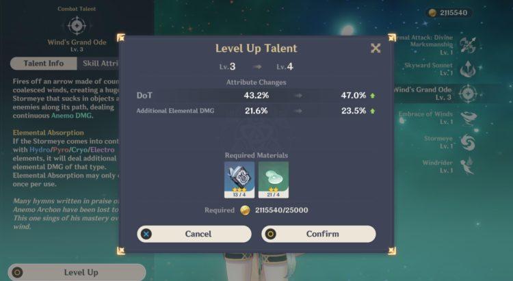 Genshin Impact Venti Guide Weapons Artifacts Talents 3