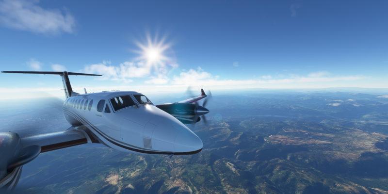 Microsoft Flight Simulator King Air Over The Great Plains