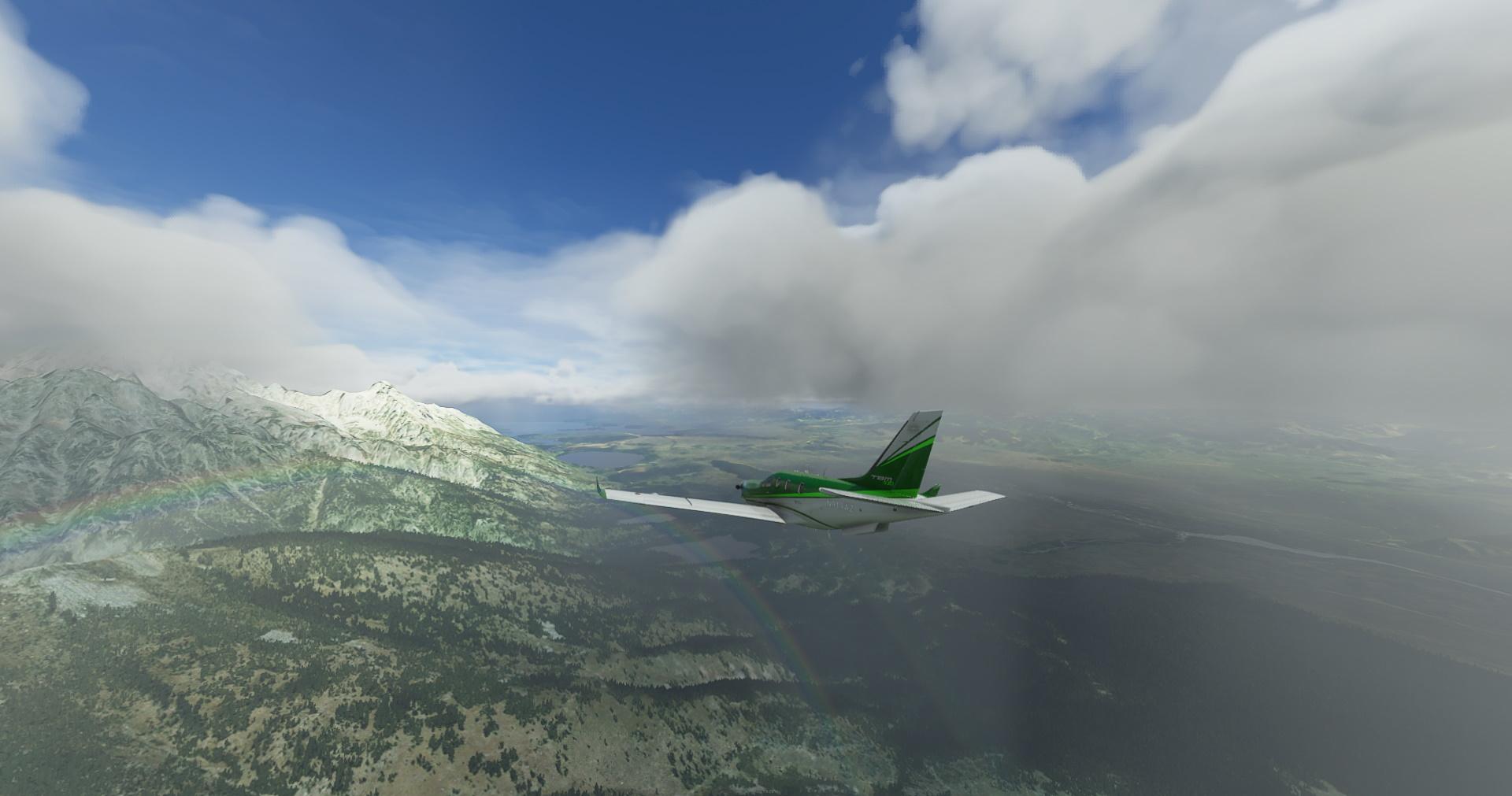 Microsoft Flight Simulator Tbm Rainbow Mountains