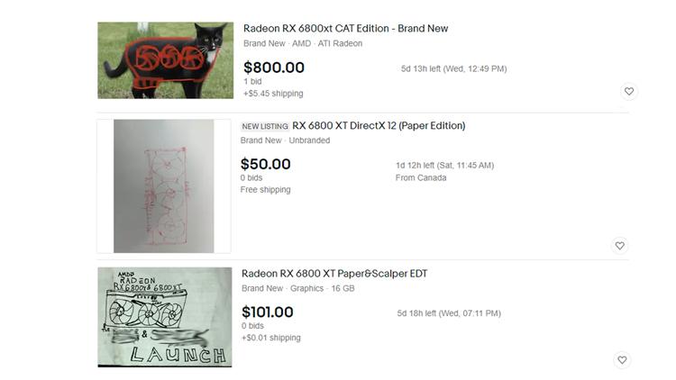 Amd Rx 6800 Joke Ebay