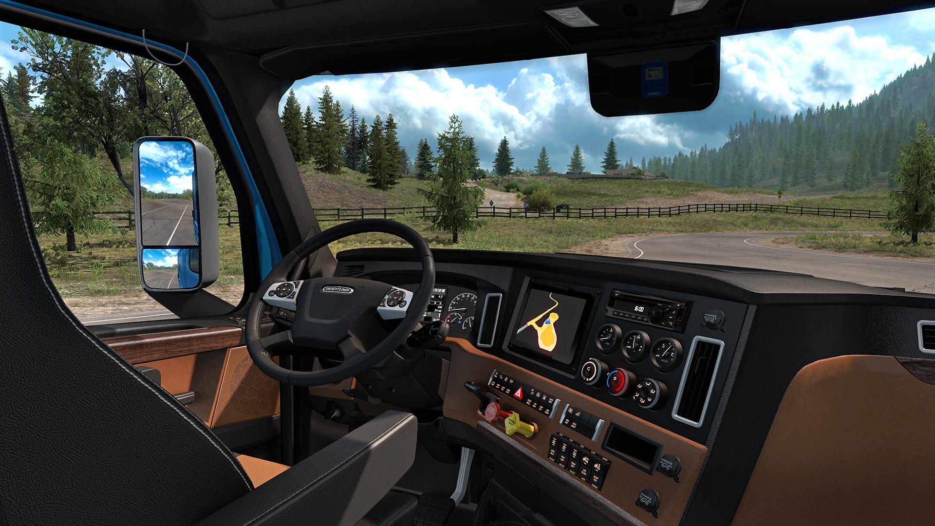 American Truck Simulator Freightliner Cascadia Interior