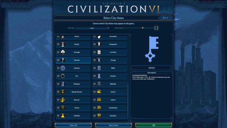Civilization Vi December 2020 Update City State Picker 1