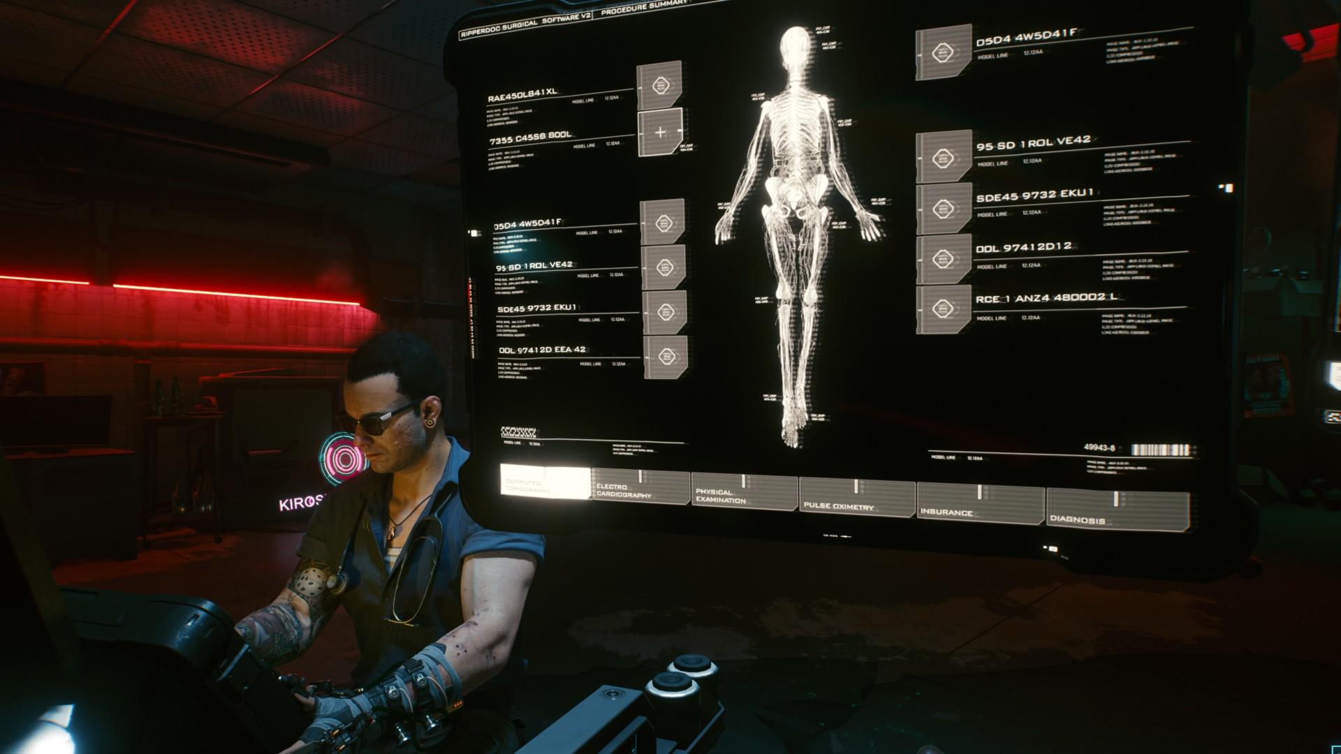 Cyberpunk 2077: Cyberware implants and the Ripperdoc's Tabula E-Rasa