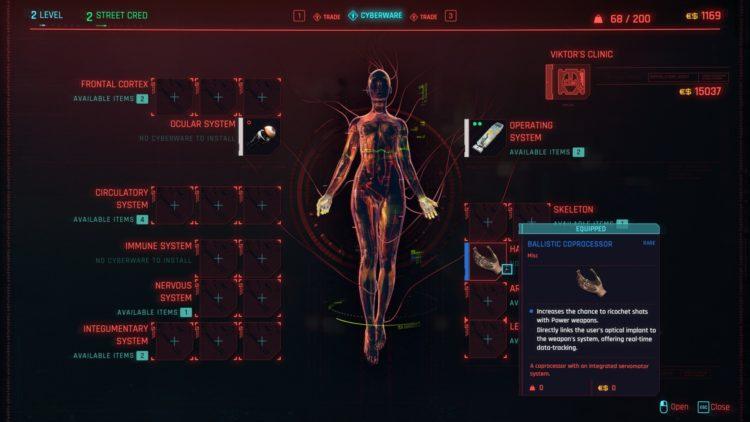 Cyberpunk 2077 Cyberware Implants Guide Ripperdoc 2
