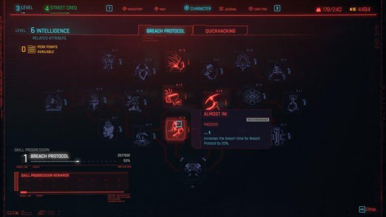 Руководство по взлому Cyberpunk 2077 Breach Protocol Quickhacking 1a