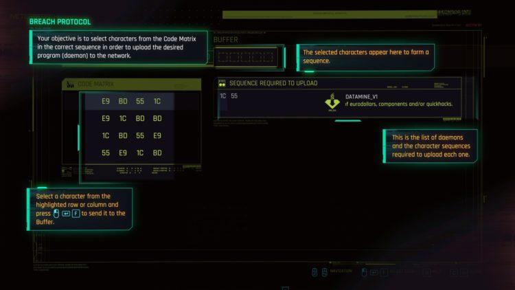 Руководство по взлому Cyberpunk 2077 Breach Protocol Quickhacking 2