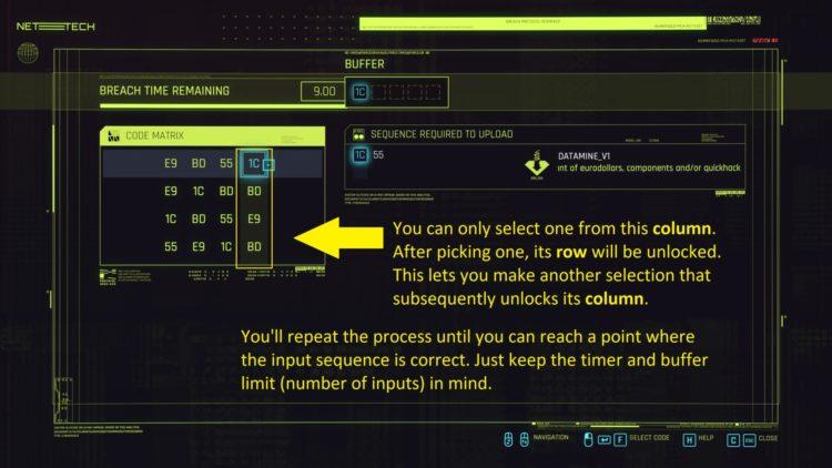Руководство по взлому Cyberpunk 2077 Breach Protocol Quickhacking 3a