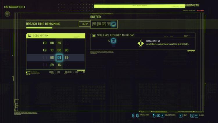 Руководство по взлому Cyberpunk 2077 Breach Protocol Quickhacking 4