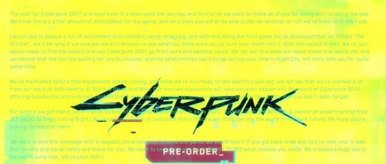 Cyberpunk 2077launch Trailer Secret Message Hints At Future Expansions (2)
