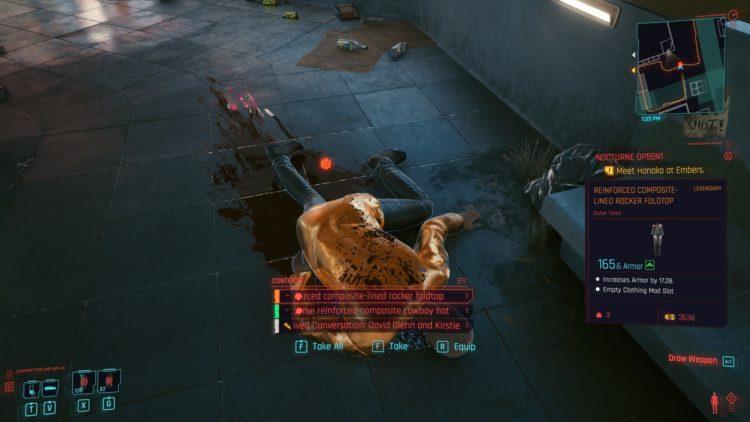 Cyberpunk 2077 Legendary Armors Guide Locations 3f