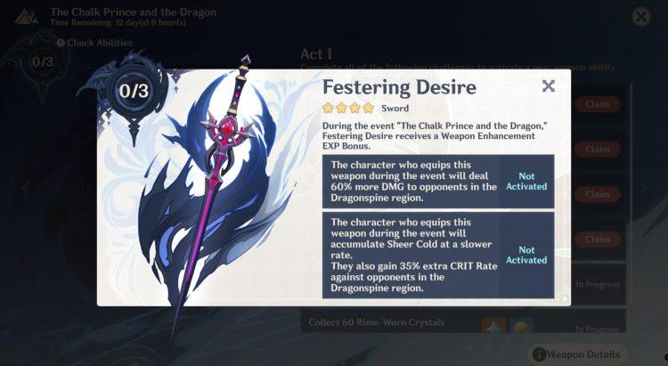 Genshin Impact Festering Desire Abilities Rewards 3