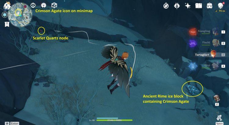 Genshin Impact Secret Crimson Agate Locations Wall Puzzle Great Snowboar King feat 1