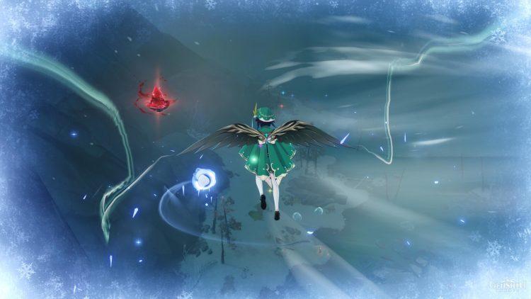 Genshin Impact Secret Crimson Agate Locations Wall Puzzle Great Snowboar King feat 2