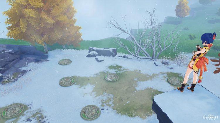 Genshin Impact Secret Crimson Agate Locations Wall Puzzle Great Snowboar King feat 3