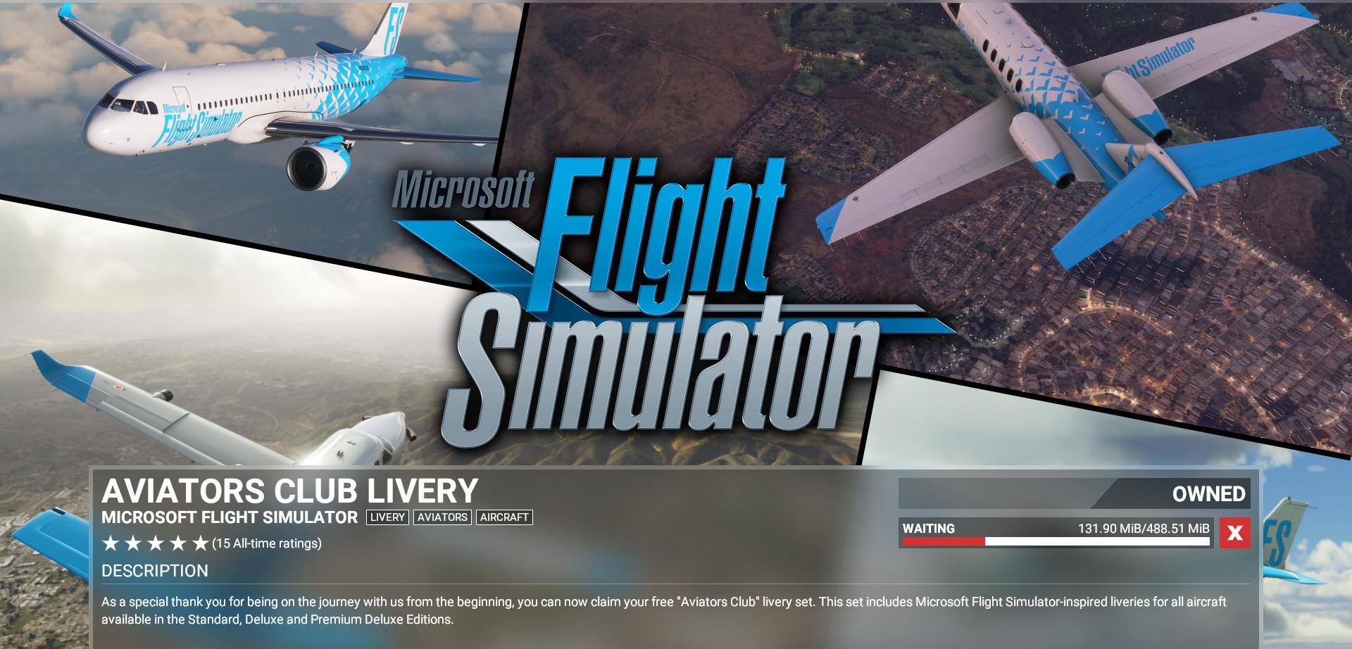 Microsoft Flight Simulator - Aviator's Club Livery