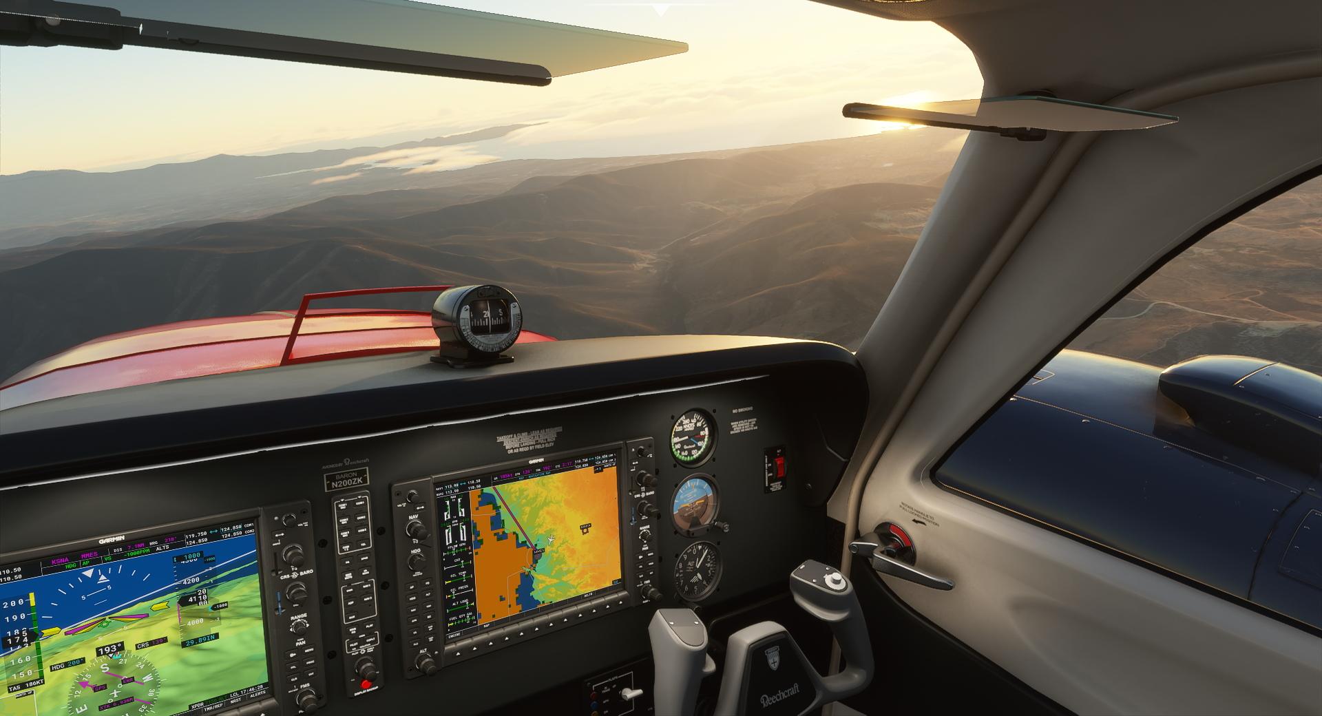 Microsoft Flight Simulator Baron Cockpit In Mexico