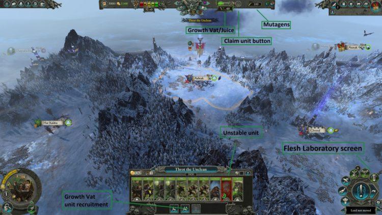 Throt The Unclean Flesh Laboratory Mutations Augments Guide Total War Warhammer Ii Warhammer 2 1a