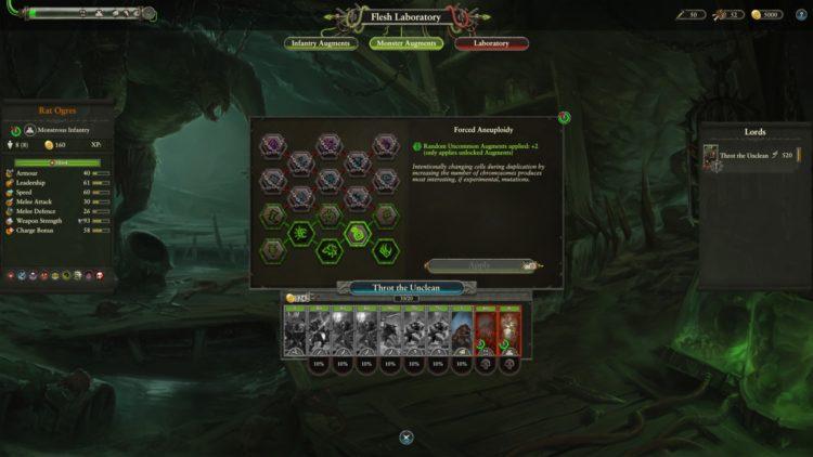 Throt The Unclean Flesh Laboratory Mutations Augments Guide Total War Warhammer Ii Warhammer 2 2a