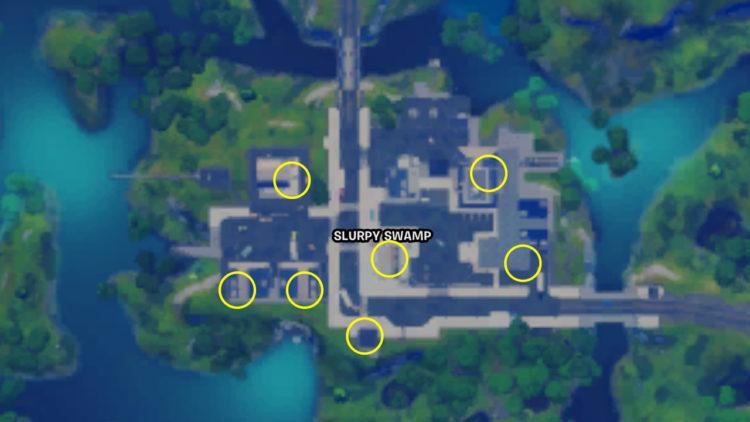 Fortnite Slurpy Swamp Safe Locations Map