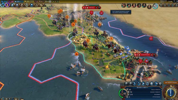 Civilization VI New Frontier Corridor Kublai Khan Mongolia China Declaration 1