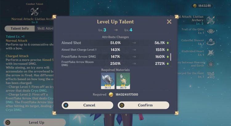 Genshin Impact Ganyu Guide Weapons Artifacts Talents 2