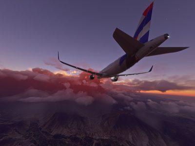 Microsoft Flight Simulator Latam Airbus A320 Over Stormy Lima Peru