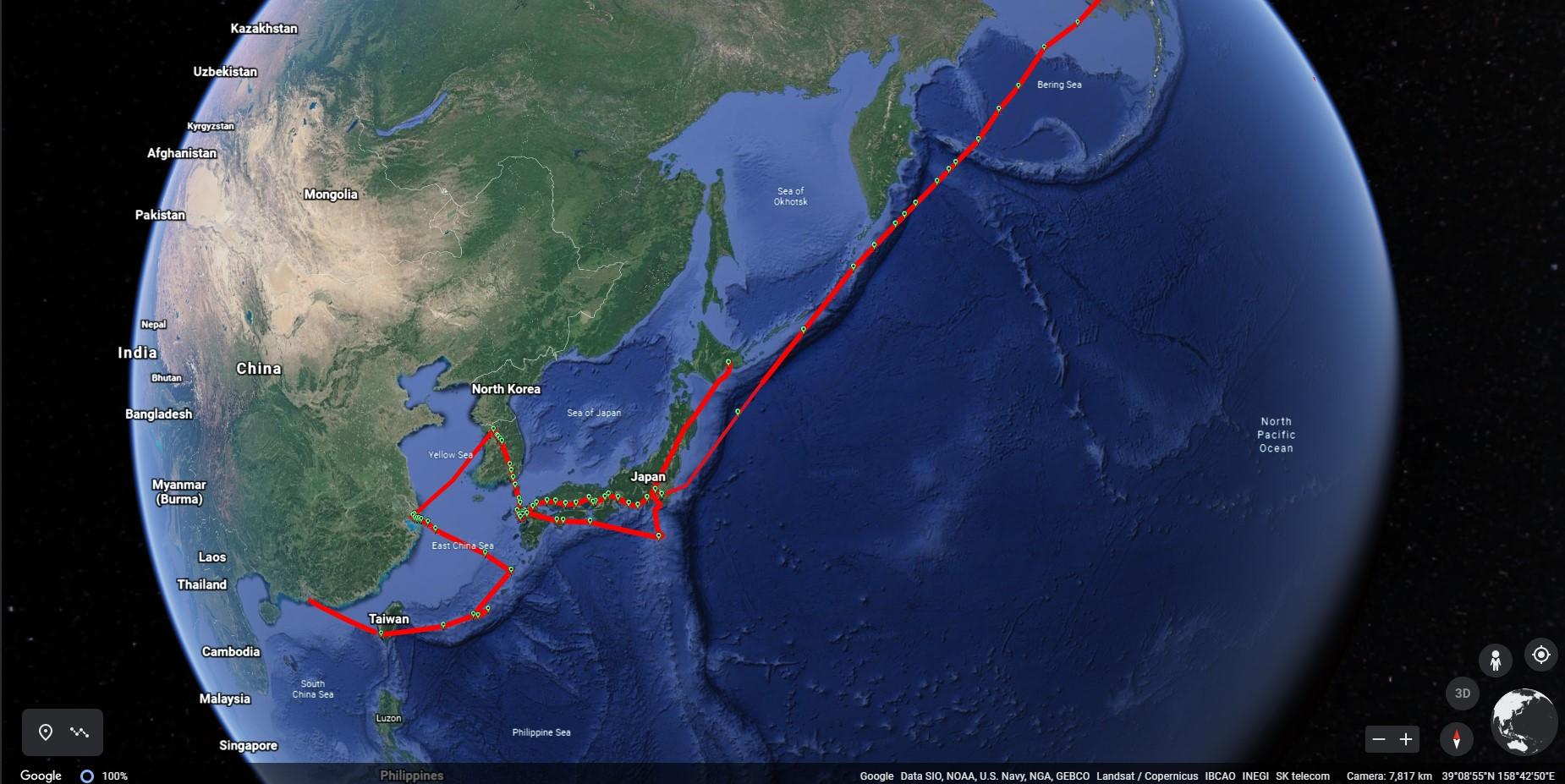 Microsoft Flight Simulator Pilot Path Recorder Google Earth