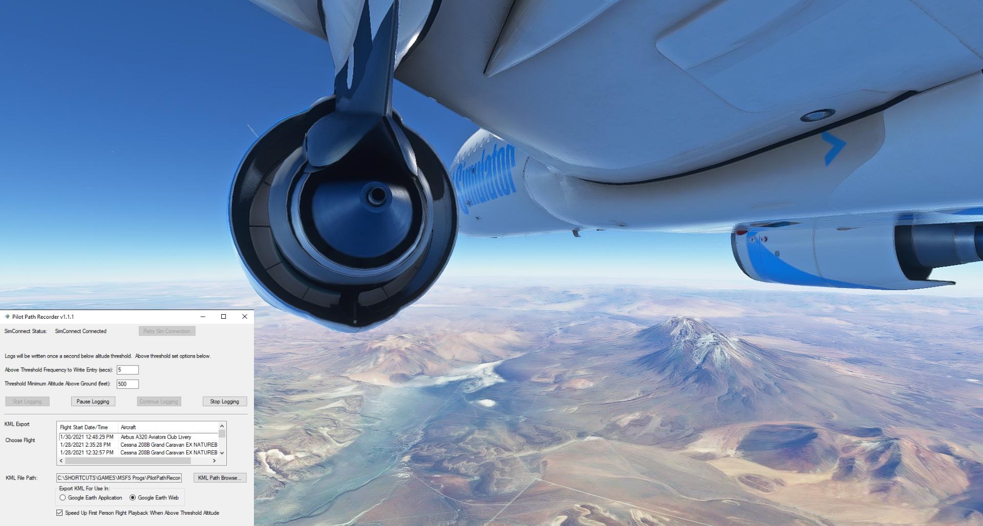 Microsoft Flight Simulator add-ons Pilot Path Recorder V2