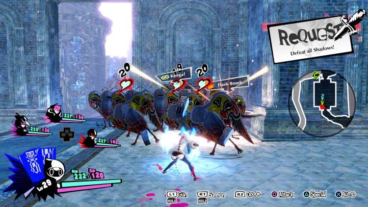 Экран очков Persona 5 Strikers