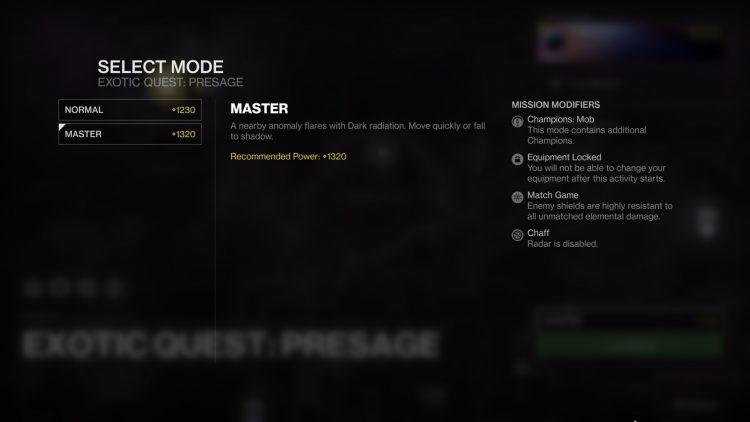 Destiny 2 The Presage Master Guide Dead Man's Tale Exotic Catalyst 1