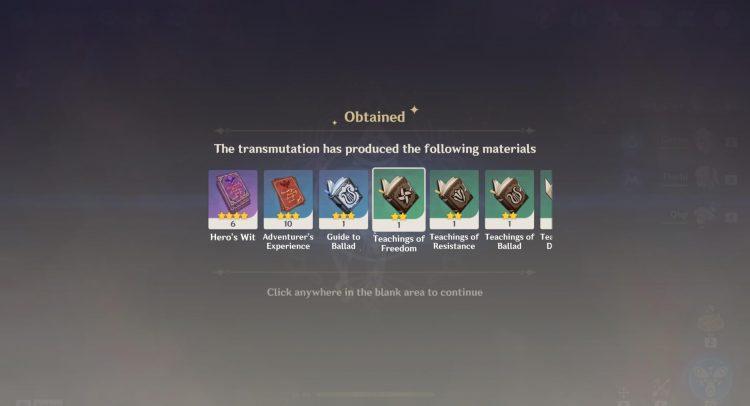 Genshin Impact Dust Of Azoth Parametric Transformer Guide New 1b