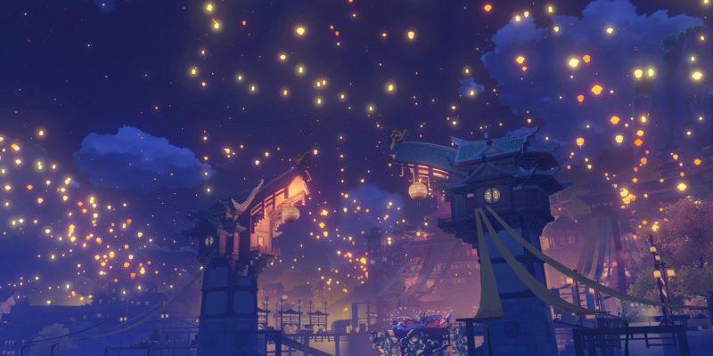 Genshin Impact Festive Fever Glow Of A Thousand Lanterns Light Upon The Sea