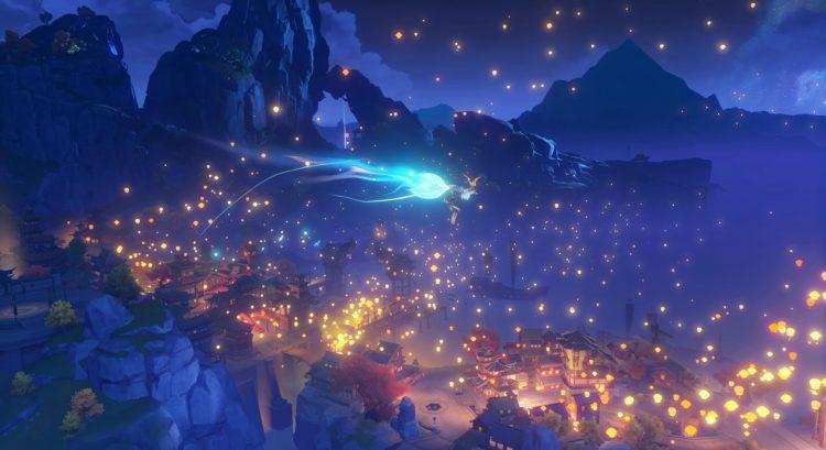 Genshin Impact Festive Fever Glow Of A Thousand Lanterns Light Upon The Sea 2